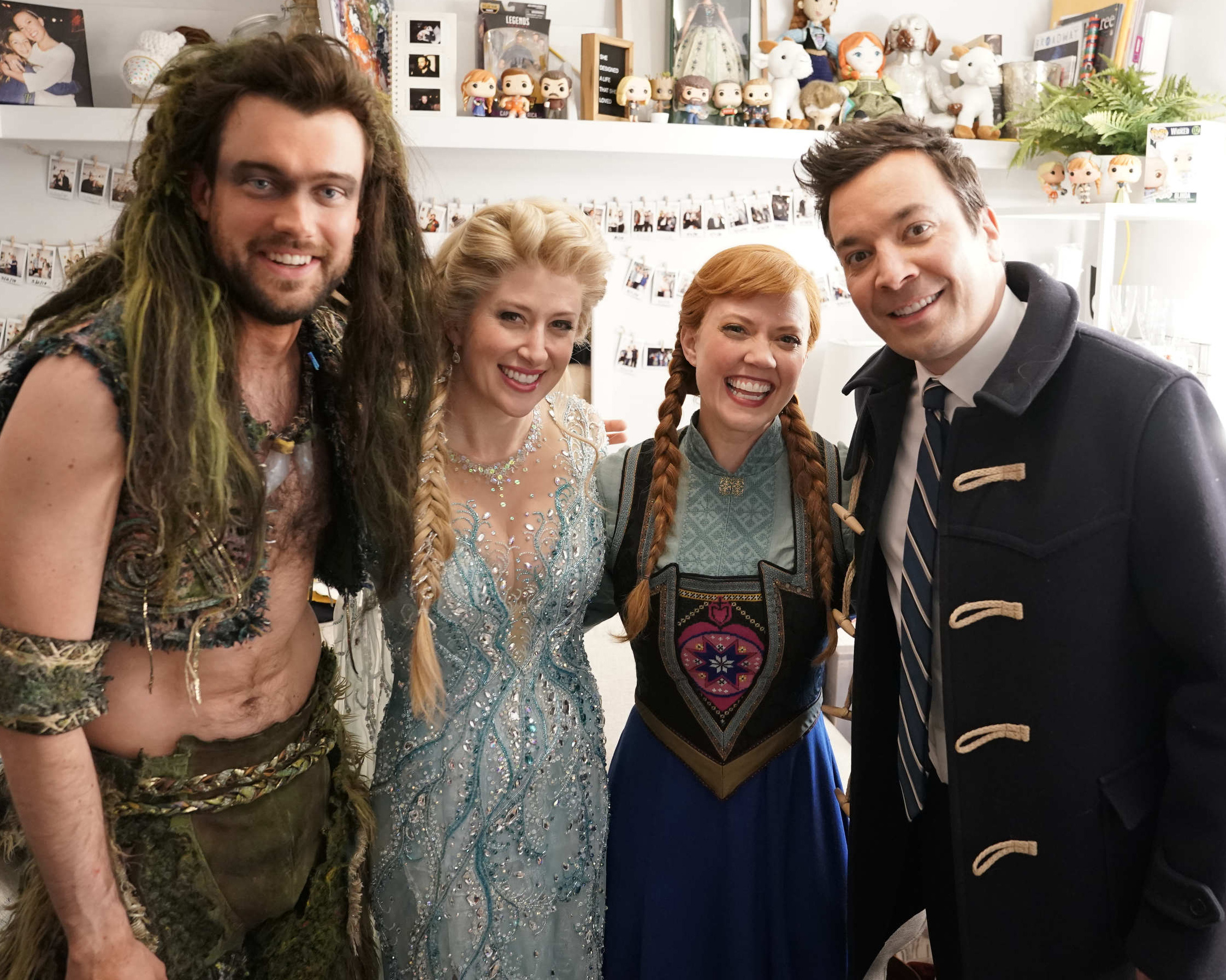 A -- Jack Whitehall, Caissie Levy (Elsa), Patti Murin (Anna), and Jimmy Fallon. Photo by Andrew Lipovsky, NBC[1][1].JPG