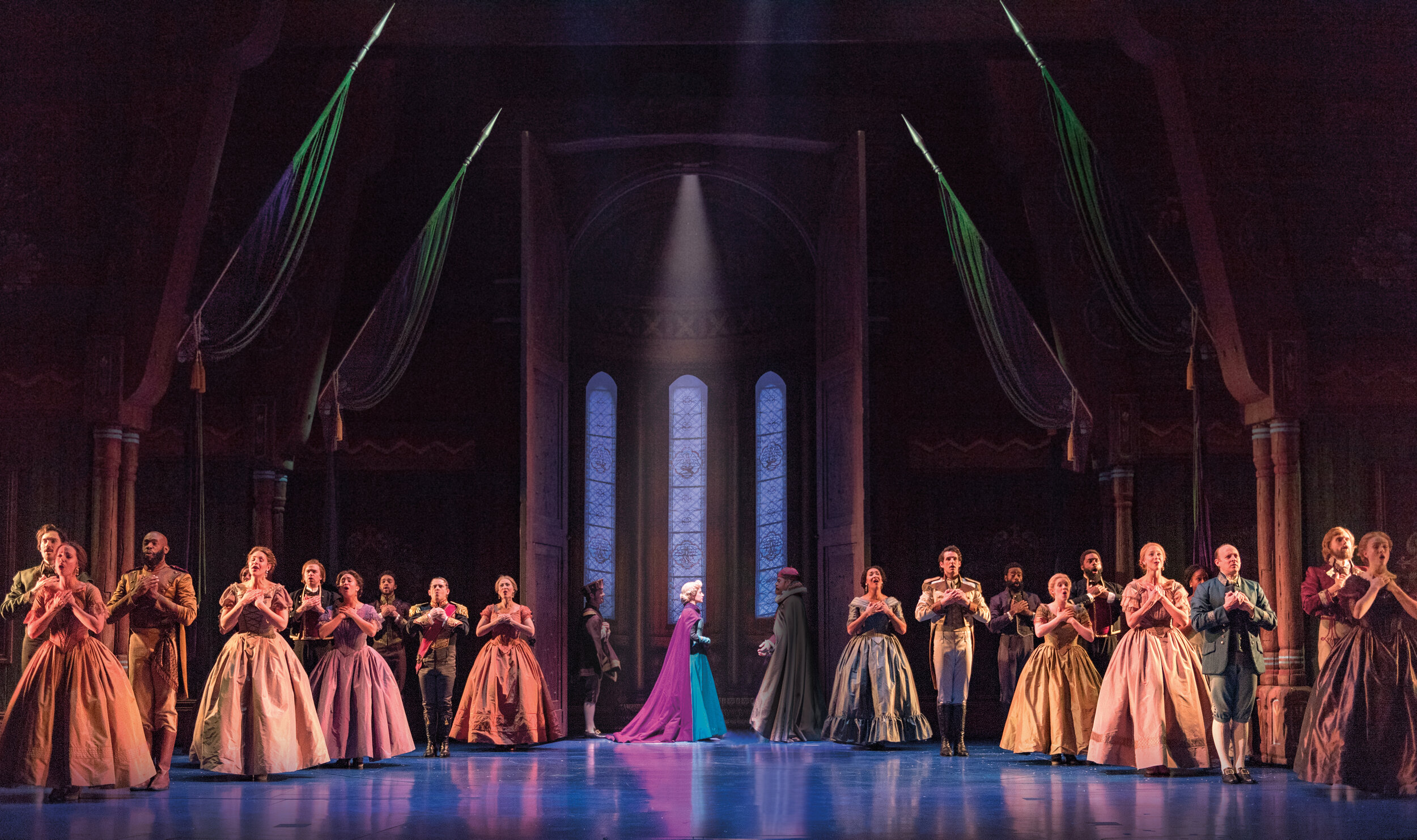 3-Caissie Levy Elsa and the Company of FROZEN on Broadway. Photo by Deen van Meer.jpg