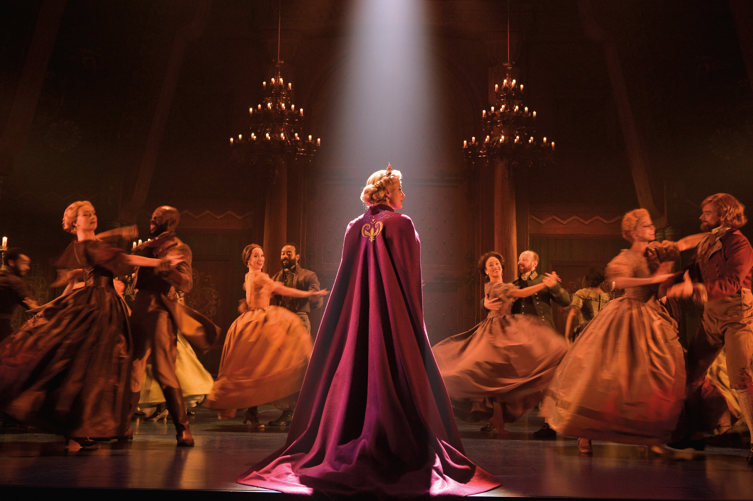 5-Caissie Levy Elsa and the Company of FROZEN on Broadway - Waltz. Photo by Deen van Meer.jpg