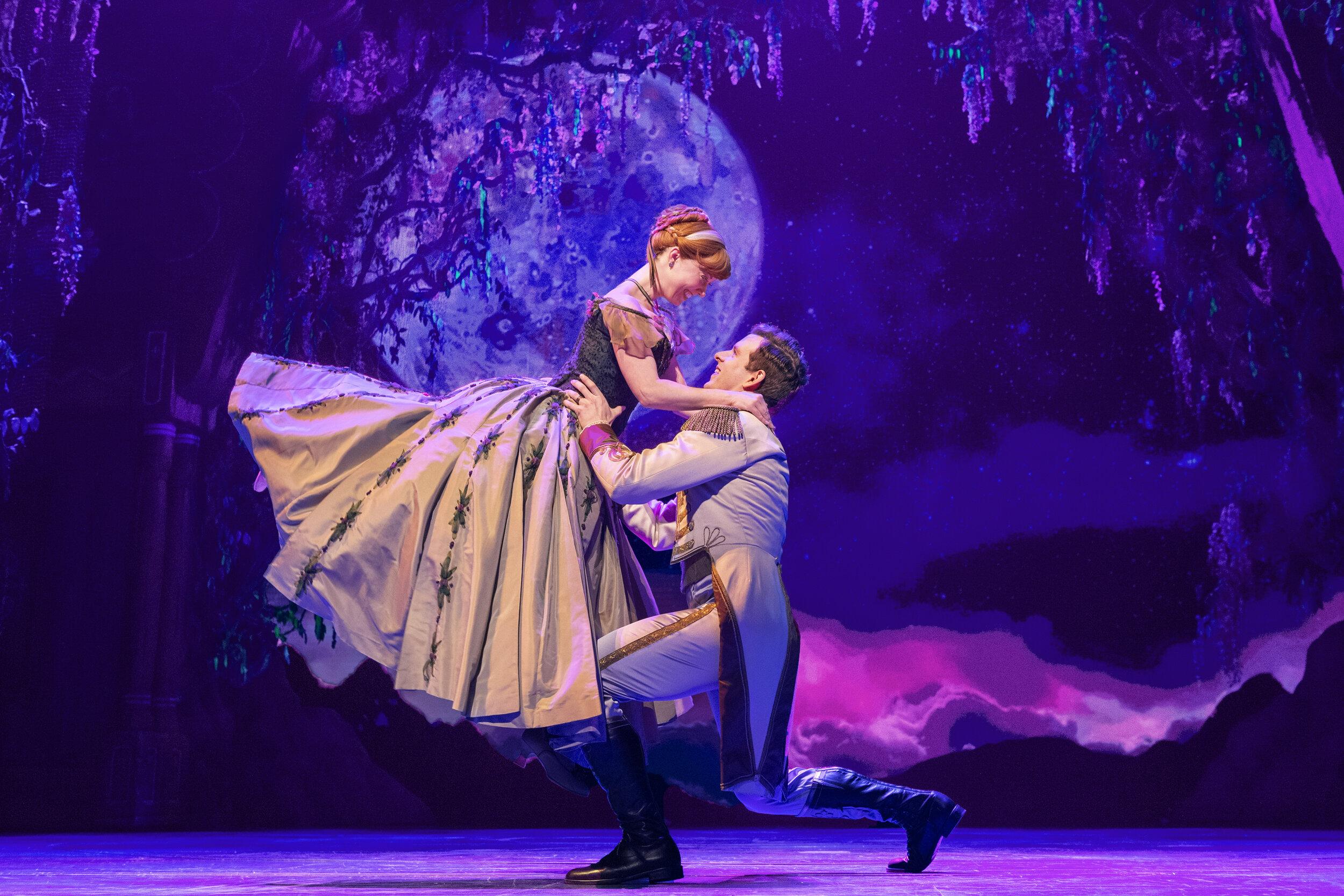 7-Patti Murin Anna and Joe Carroll Hans in Frozen Broadway_photo by Deen van Meer.jpg