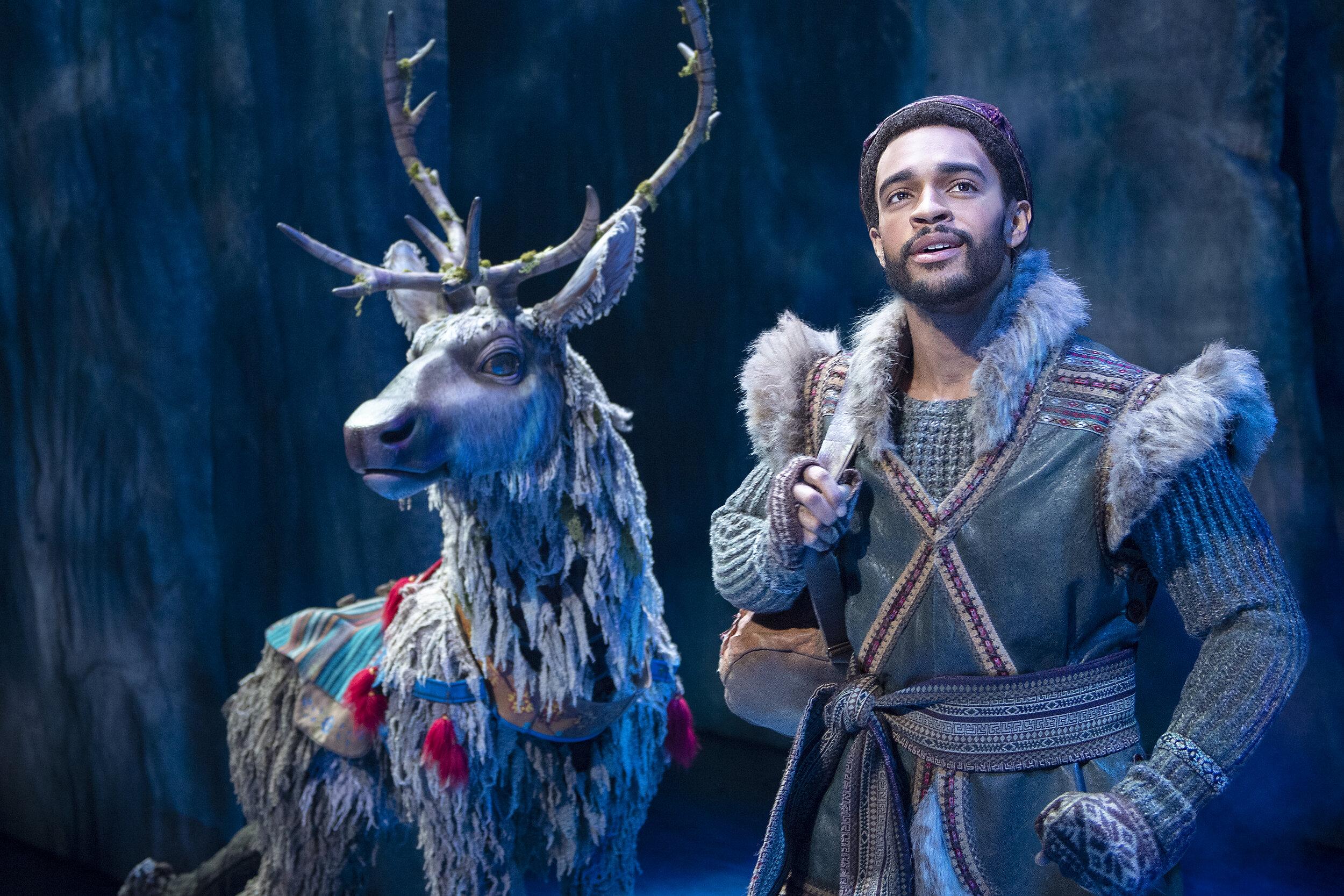 9-Adam Jepsen Sven and Noah J Ricketts Kristoff in Frozen Broadway photo by Deen van Meer.jpg