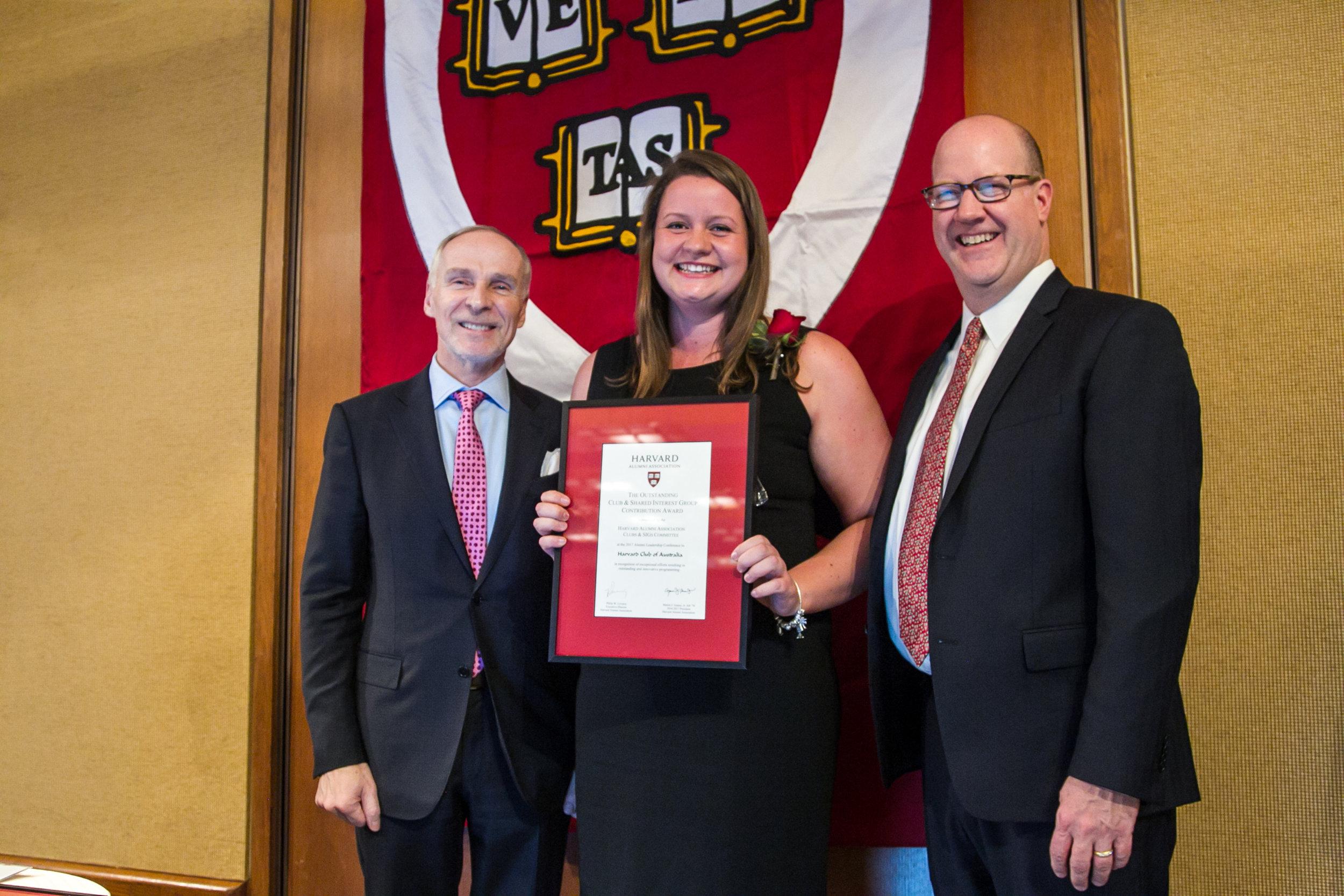 Susan Overall, HCA Councillor, accepting the Award