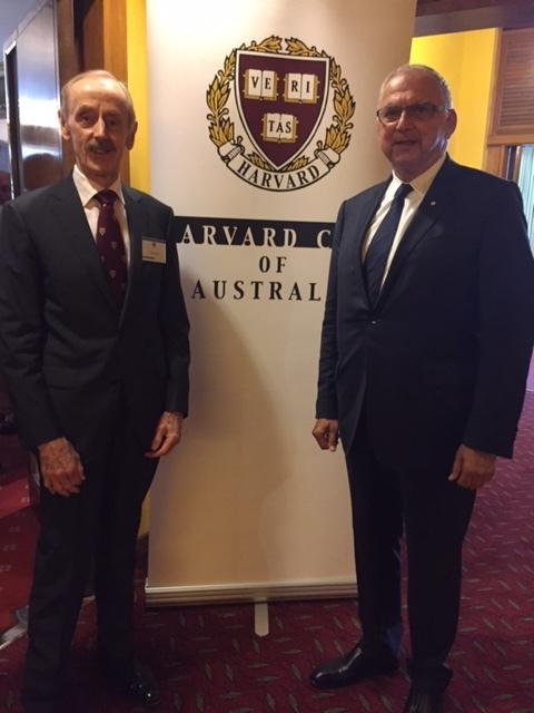 HCA Councillor Ted Blamey with Tom Dery AO