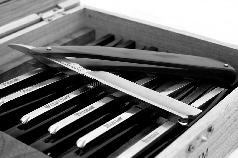 straight razor seven day shave set