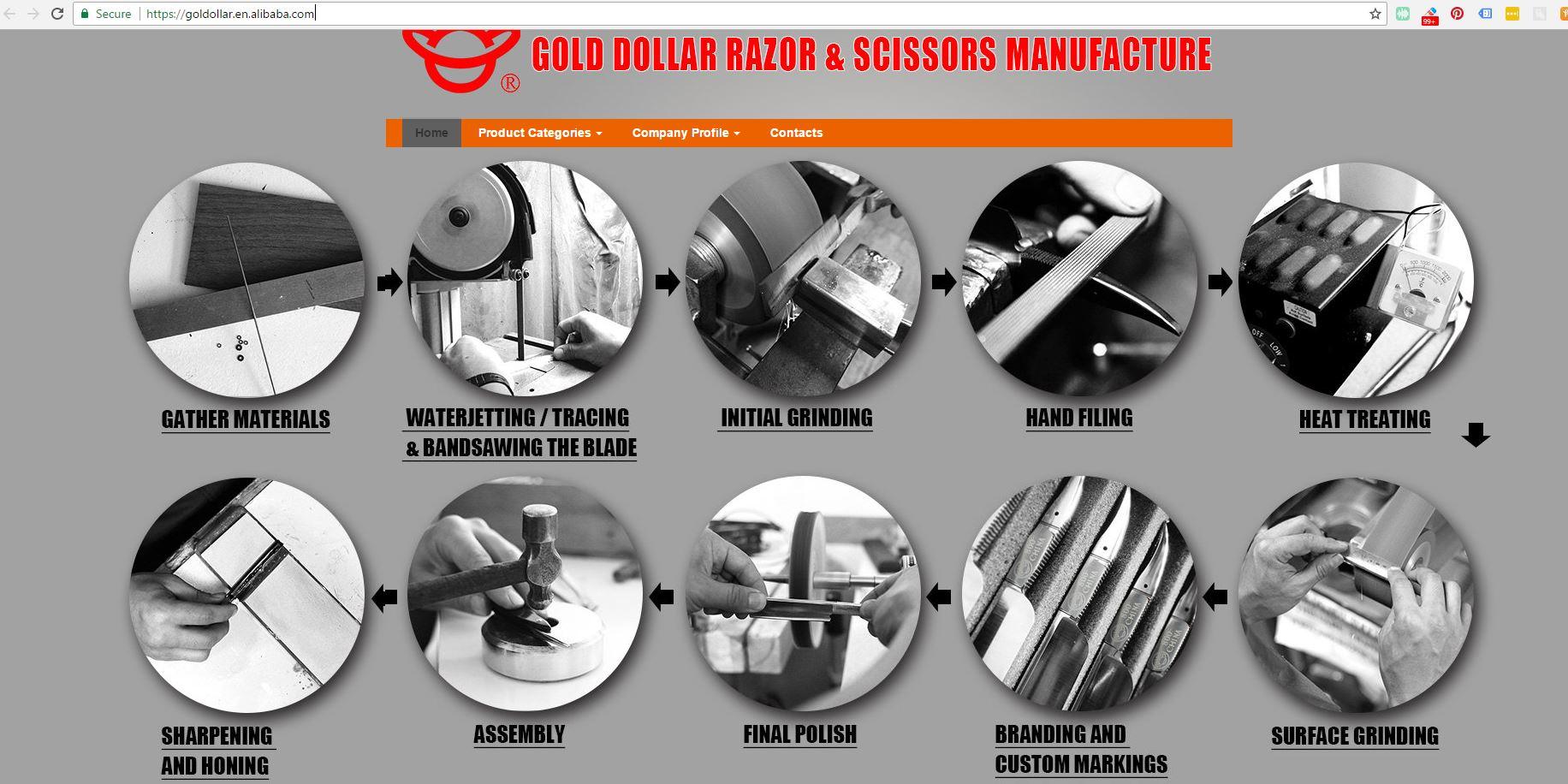 gold dollar straight razor stolen photos