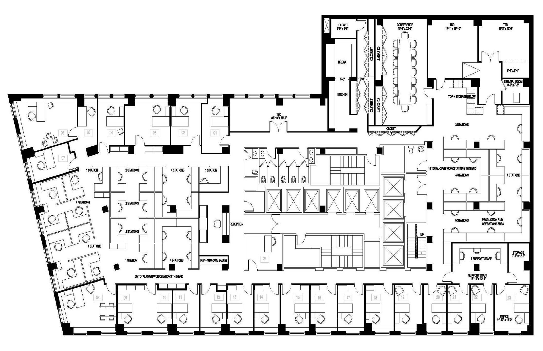 Office Floor Plan Layouts — basecampZERO