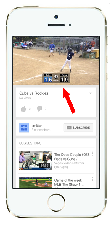 Follow the links to view your app in the YouTube application.   You're done!