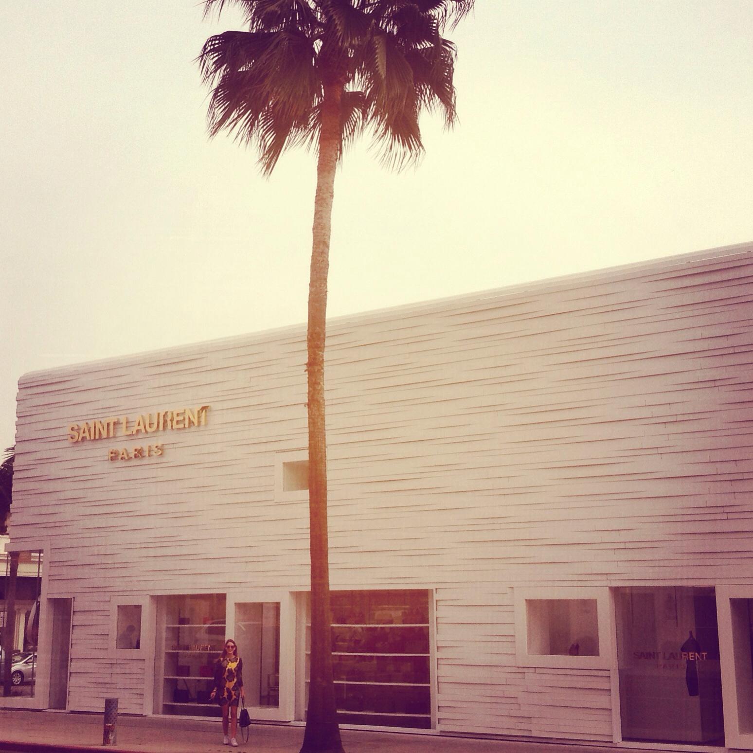 Saint Laurent store in Los Angeles