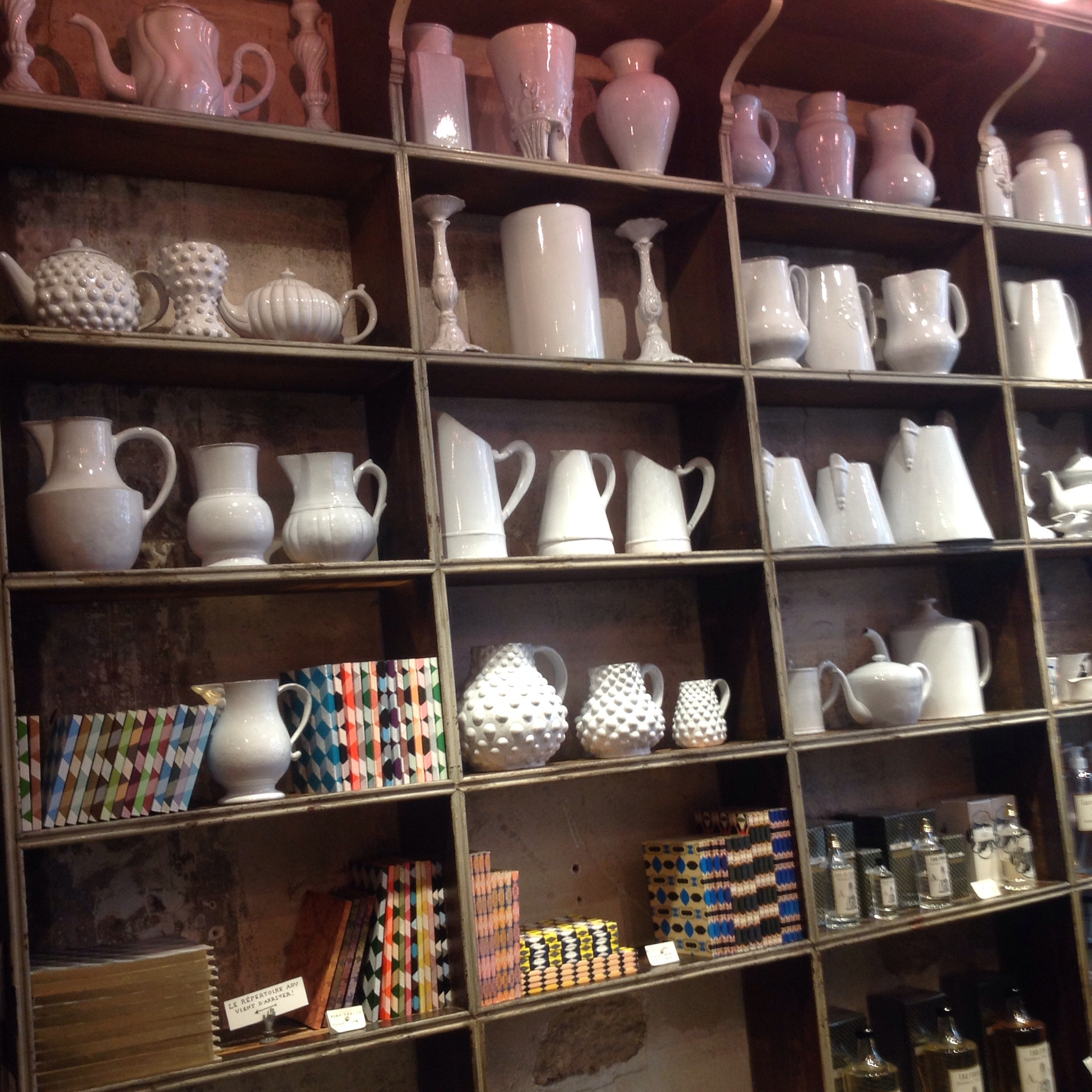 Inside Astier de Villatte ceramics shop in Paris