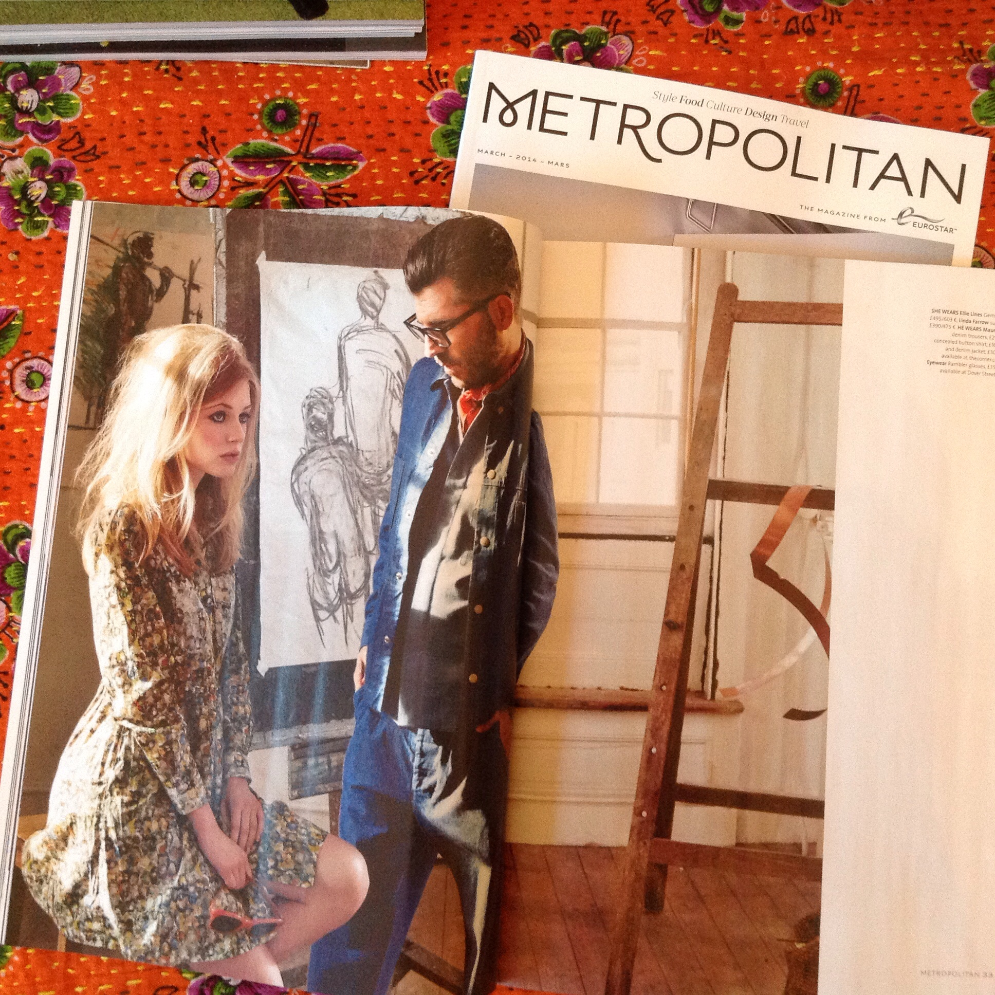 Gemma S/S dress in a fashion story styled by the fabulous David Hawkins for Metropolitan Magazine