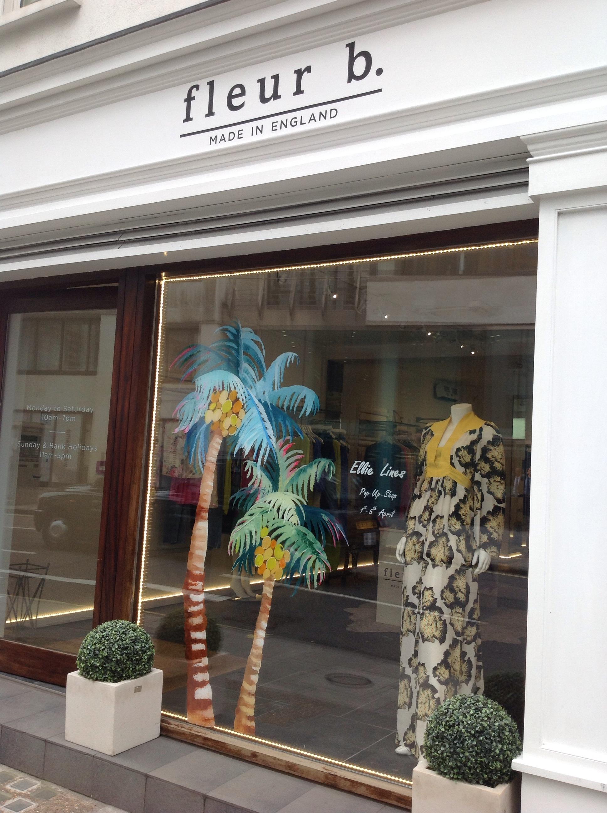 Fleur B Shop Window - Ellie Lines Pop Up