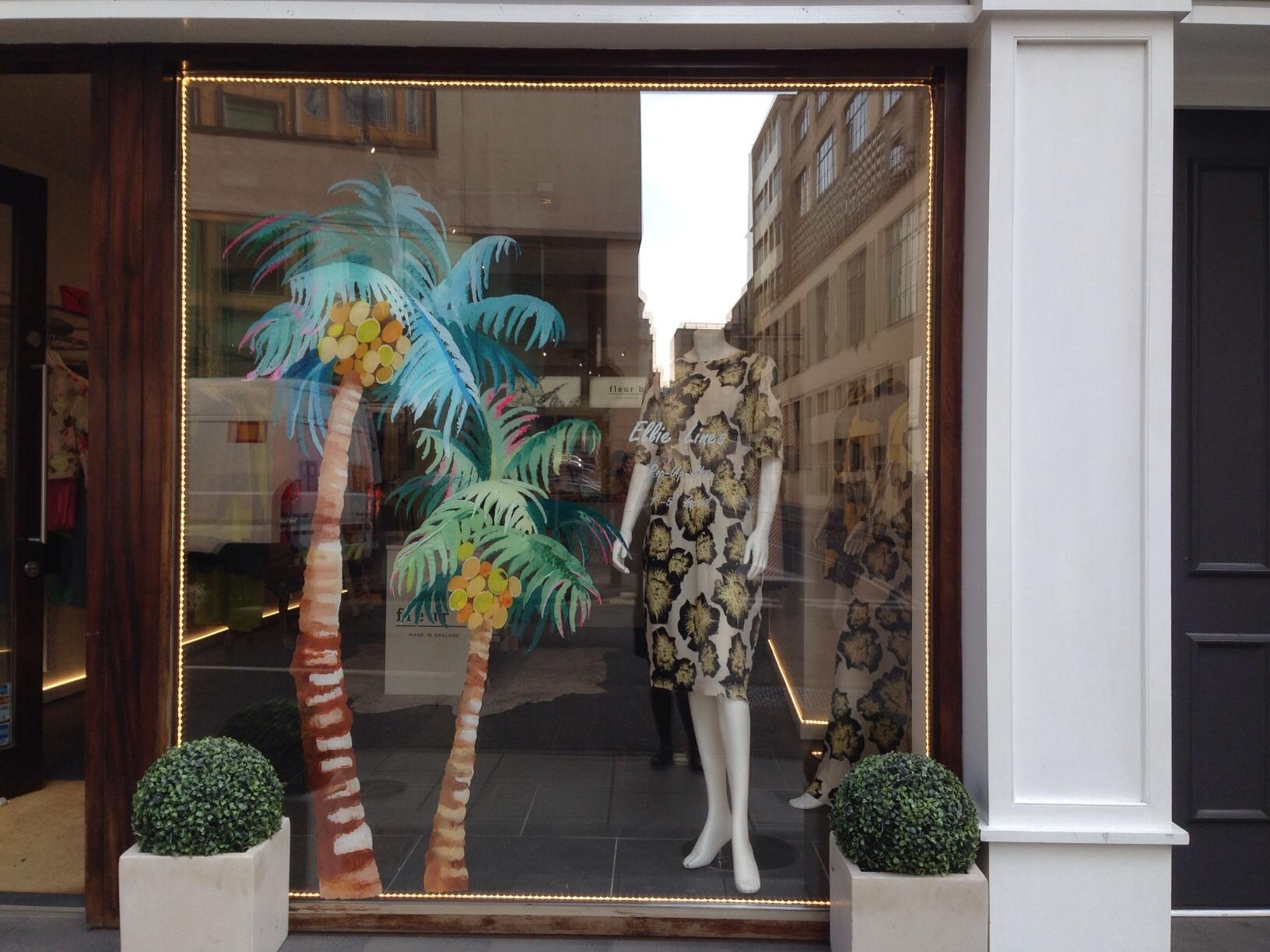 Fleur B Shop Window - Fashion Designer Ellie Lines Pop Up