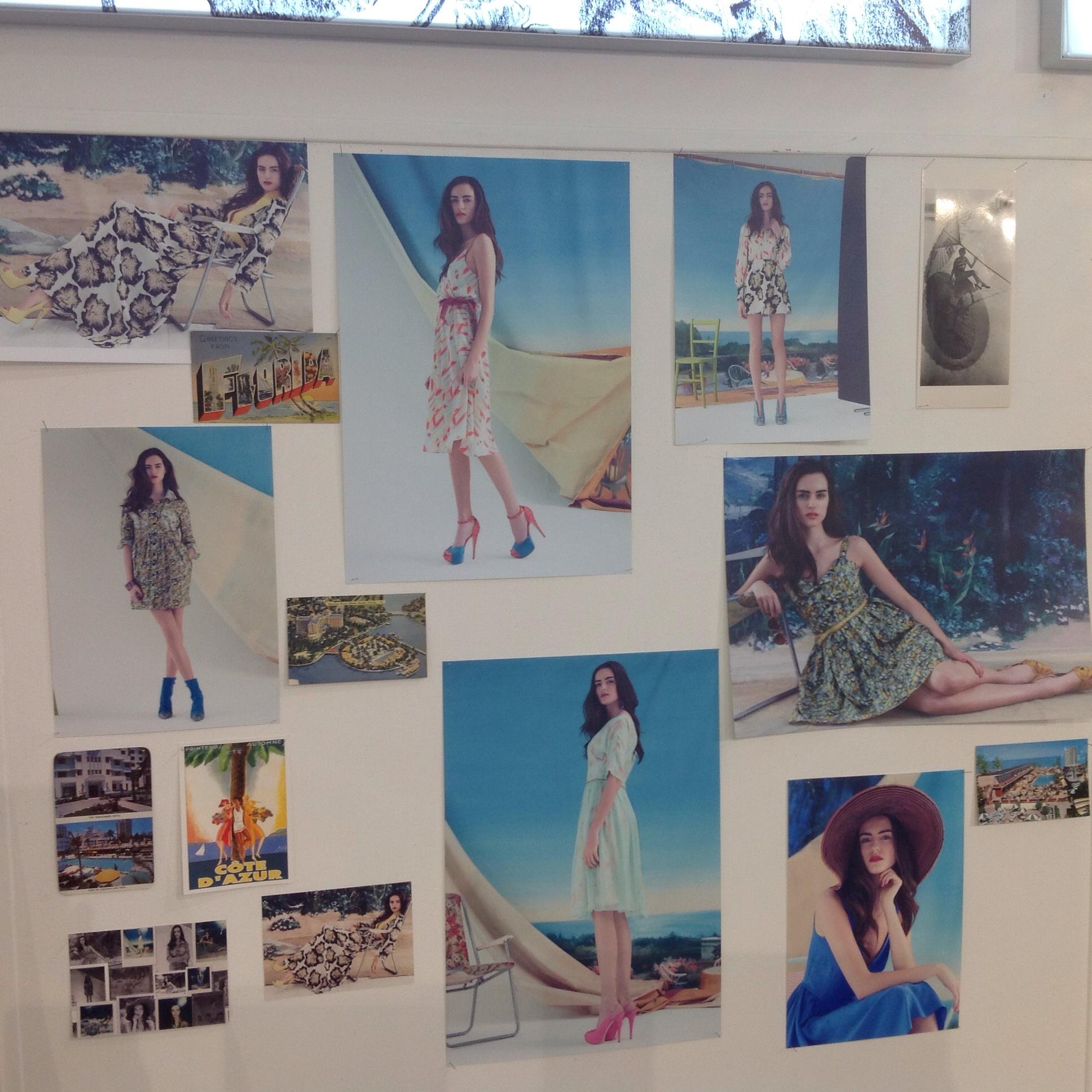 Photo display of Ellie Lines' dresses