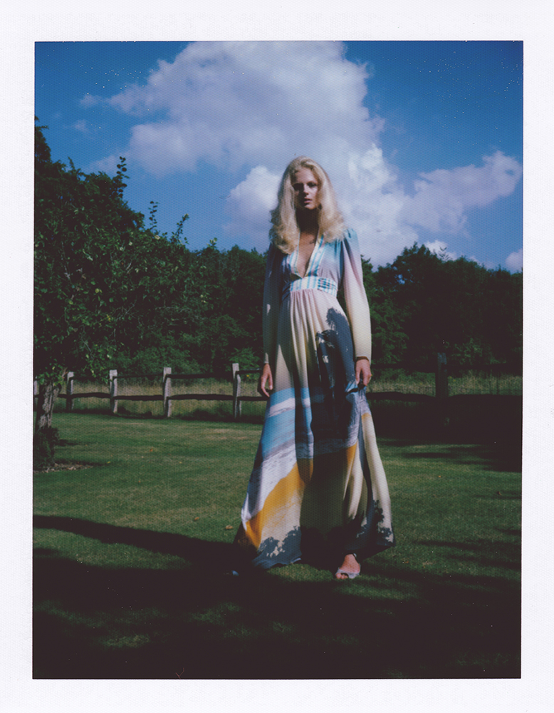 London Stylist Ellie Lines Silk Maxi Dress