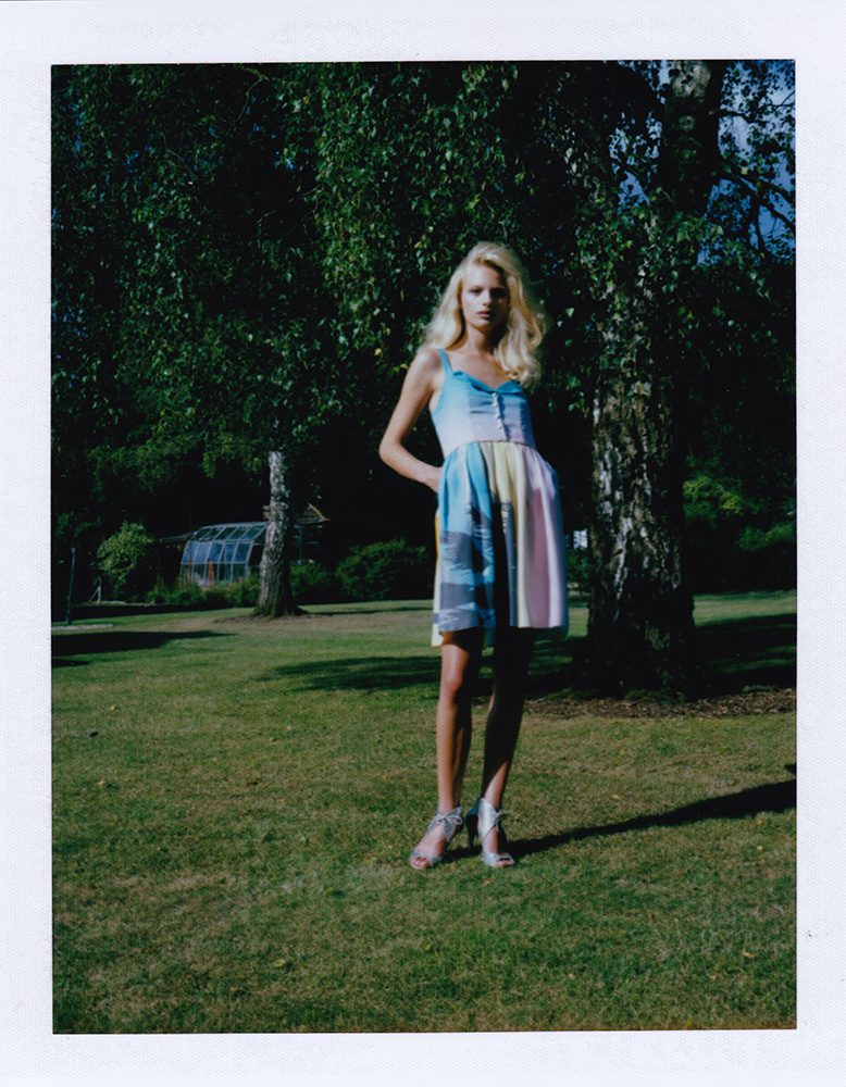 London Stylist Ellie Lines Silk Party Dress