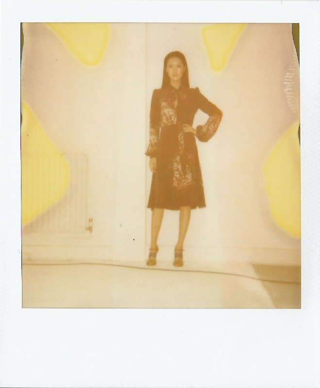 Ellie Lines AW15 dress collection - polaroid