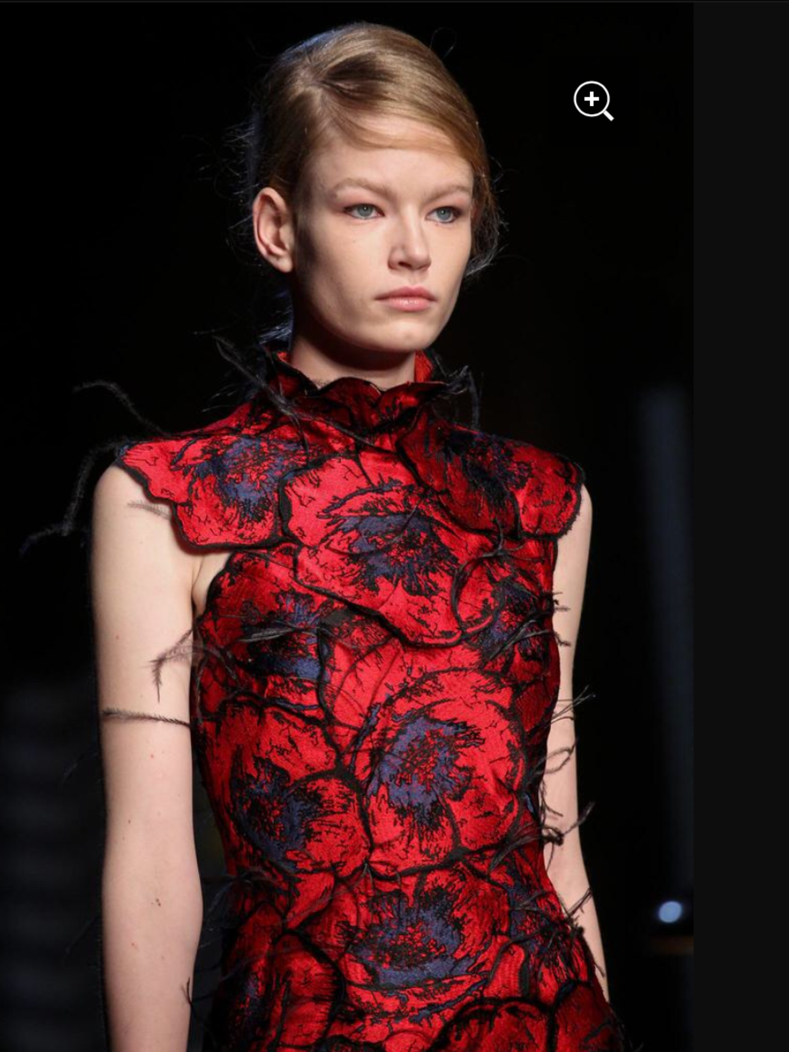 Fashion Designer Erdem on the catwalk