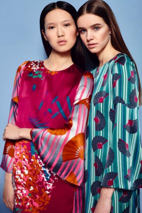 Fashion Designer Ellie Lines AW15 Collection - Georgie silk party dresses