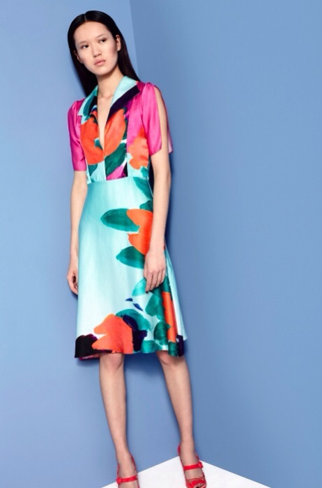 Fashion Designer Ellie Lines AW15 Collection - Gemma silk party dress