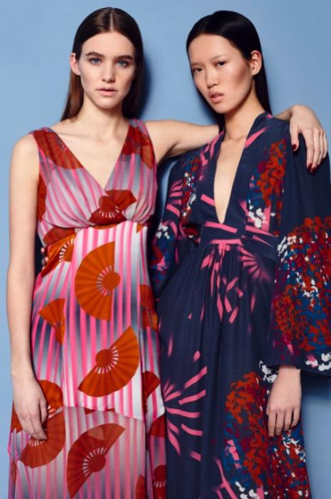 Fashion Designer Ellie Lines AW15 Collection - Chrissie & Ellie silk maxi party dresses