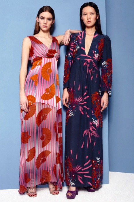 Fashion Designer Ellie Lines AW15 Collection - Chrissie and Ellie silk maxi party dresses