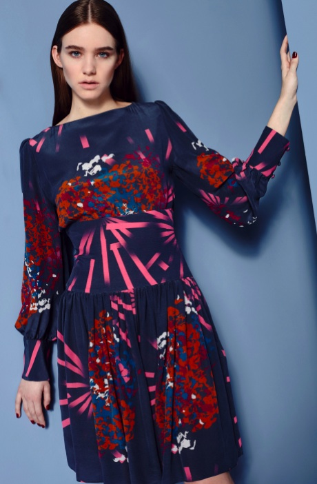 Fashion Designer Ellie Lines AW15 Collection - Lola silk dress