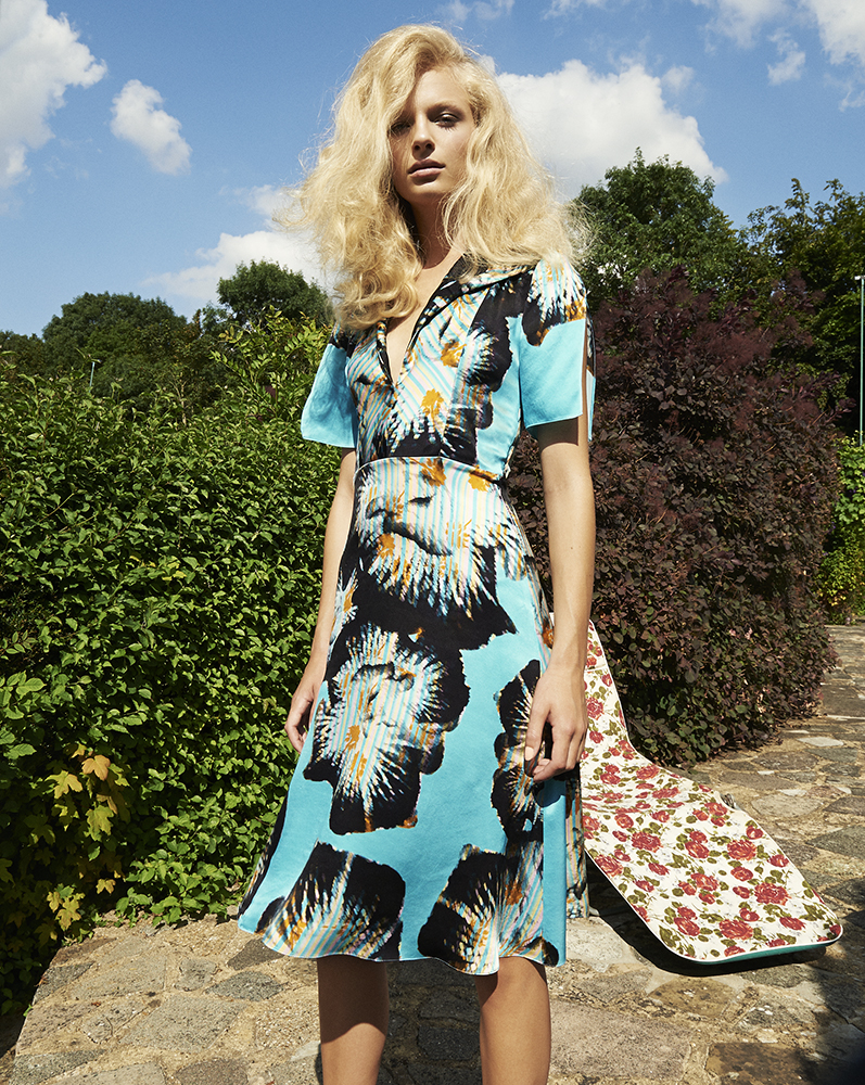 London Palm Collection Designed by London Stylist Ellie Lines Silk Tea Dress
