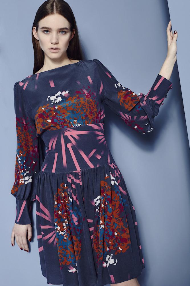 Fashion Stylist Ellie Lines Hydrangea Fantasy Collection Silk Dress