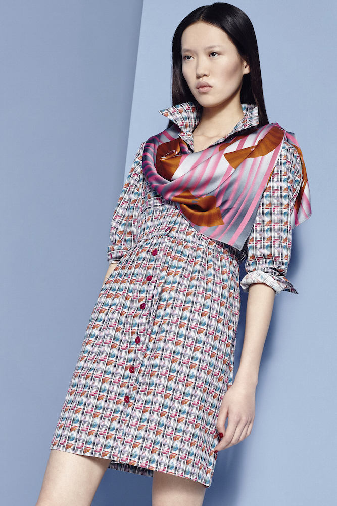 Fashion Stylist Ellie Lines Hydrangea Fantasy Collection Silk Shirt Dress