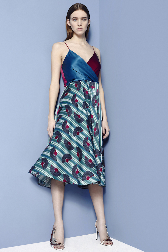 Fashion Stylist Ellie Lines Hydrangea Fantasy Collection Silk Carly Dress