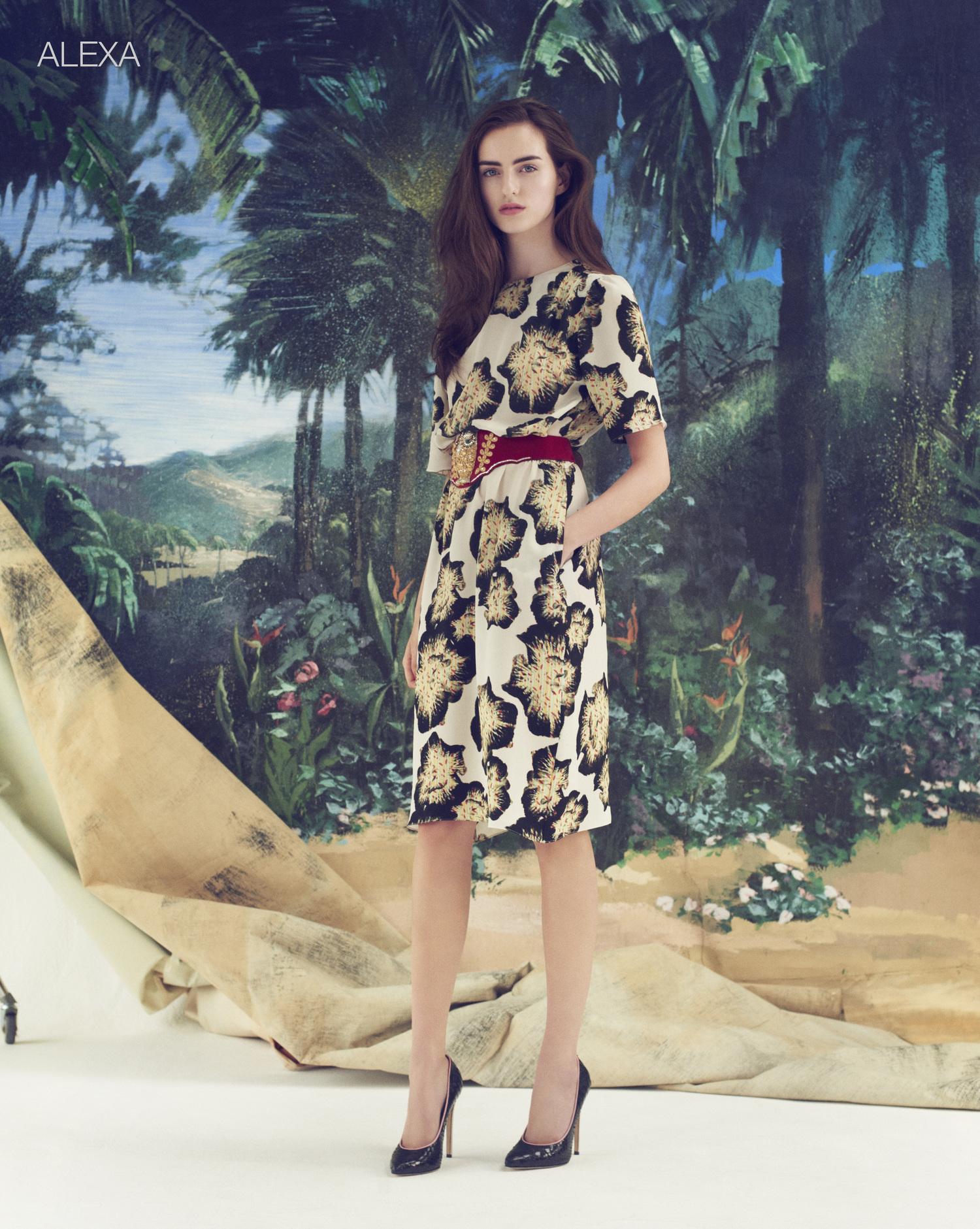 London Stylist Ellie Lines Poolside Collection Silk  Dress