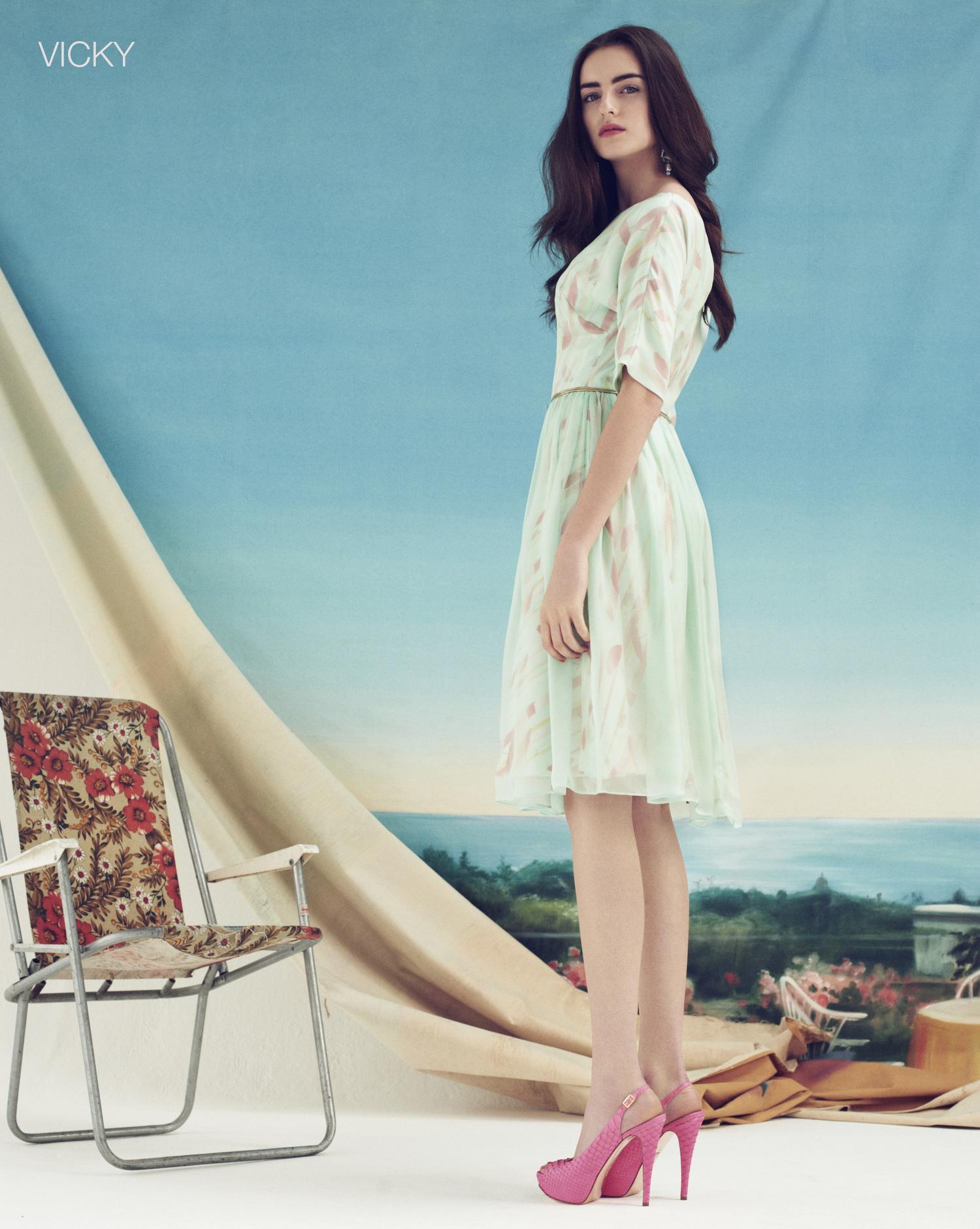 London Stylist Ellie Lines Poolside Collection Vicky Silk Dress