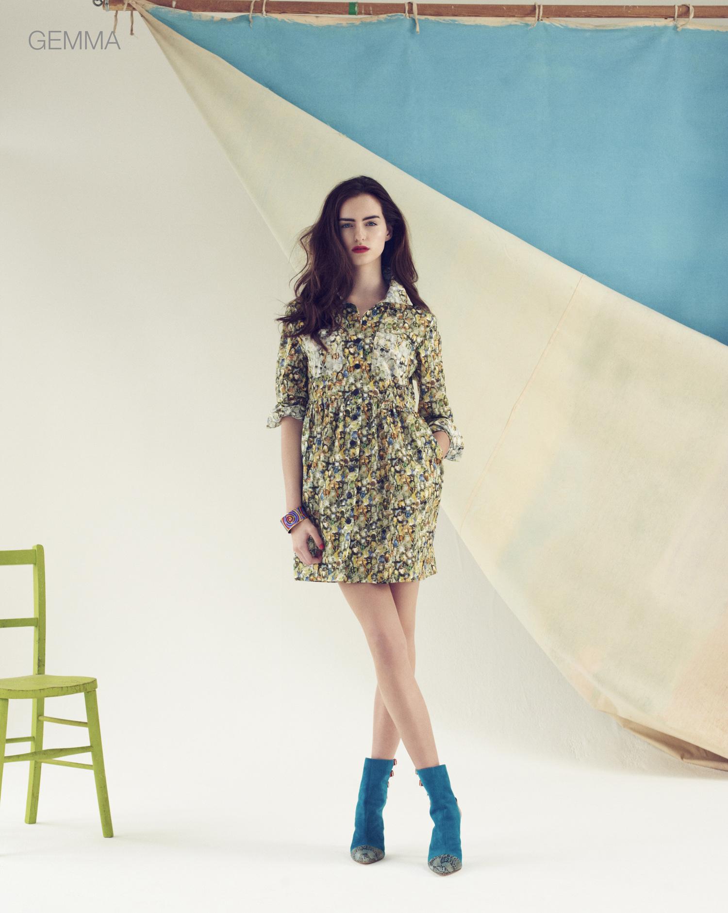 London Stylist Ellie Lines Poolside Collection Gemma Silk Shirt Dress