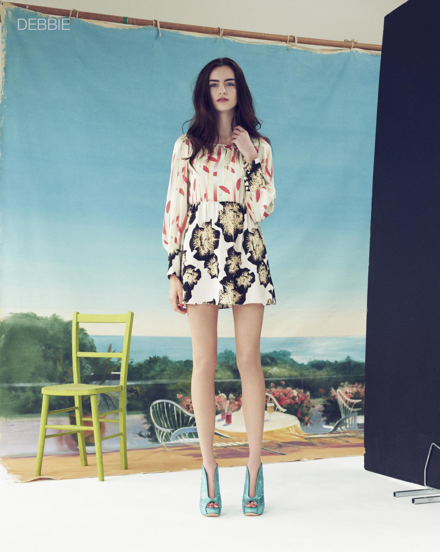 London Stylist Ellie Lines Poolside Collection Debbie Silk Dress