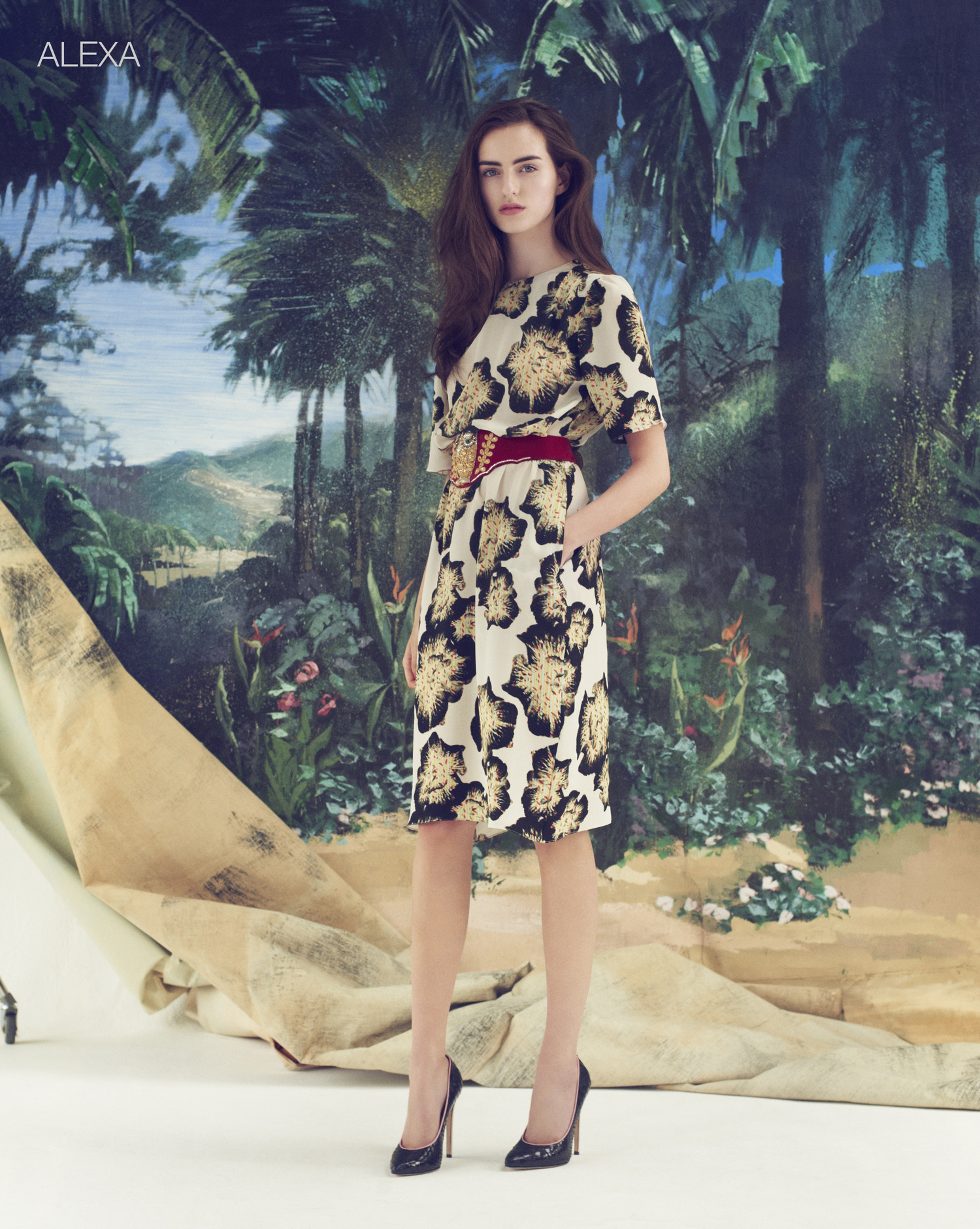 Ellie Lines Alexa silk dress