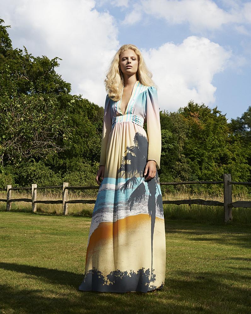 Ellie Lines silk dress