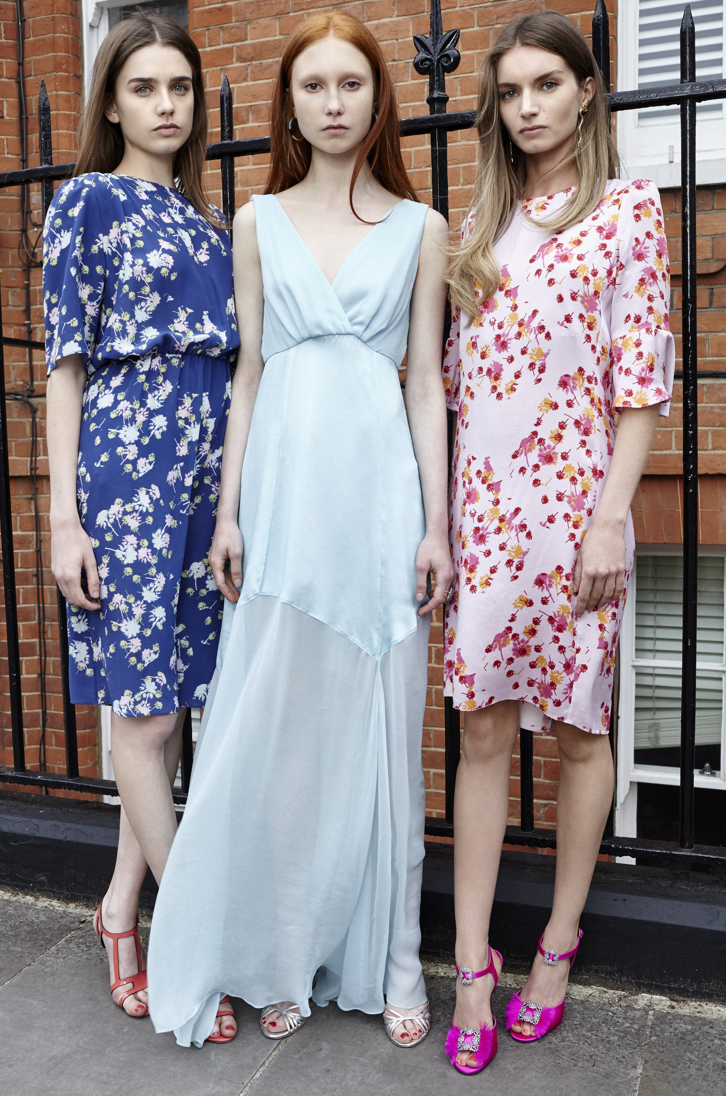 Fashion Designer Ellie Lines' Baby You Can Drive My Car Collection Silk Party Dresses