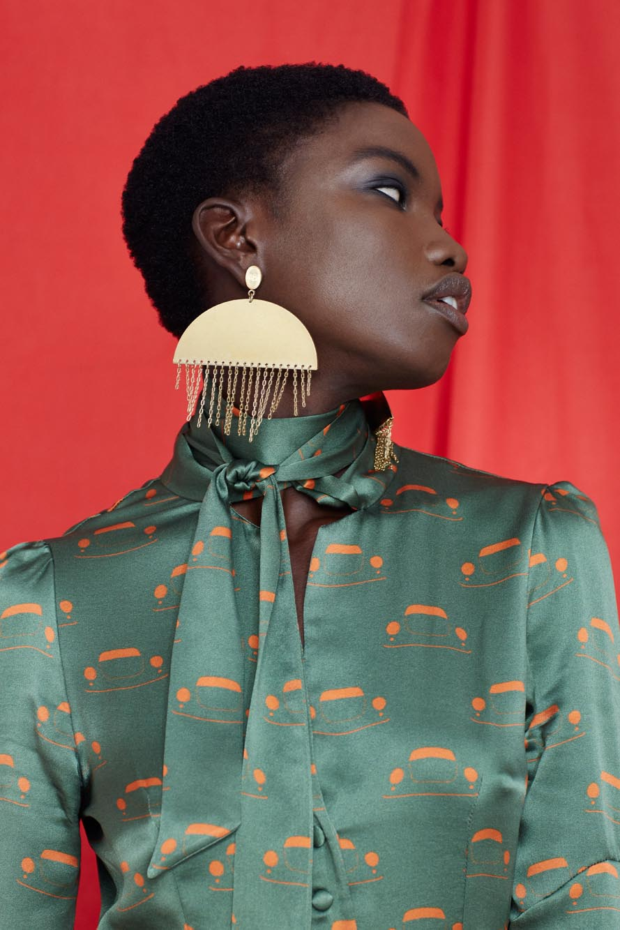 Fashion Designer Ellie Lines Deia Targa Collection Julia Silk Dress