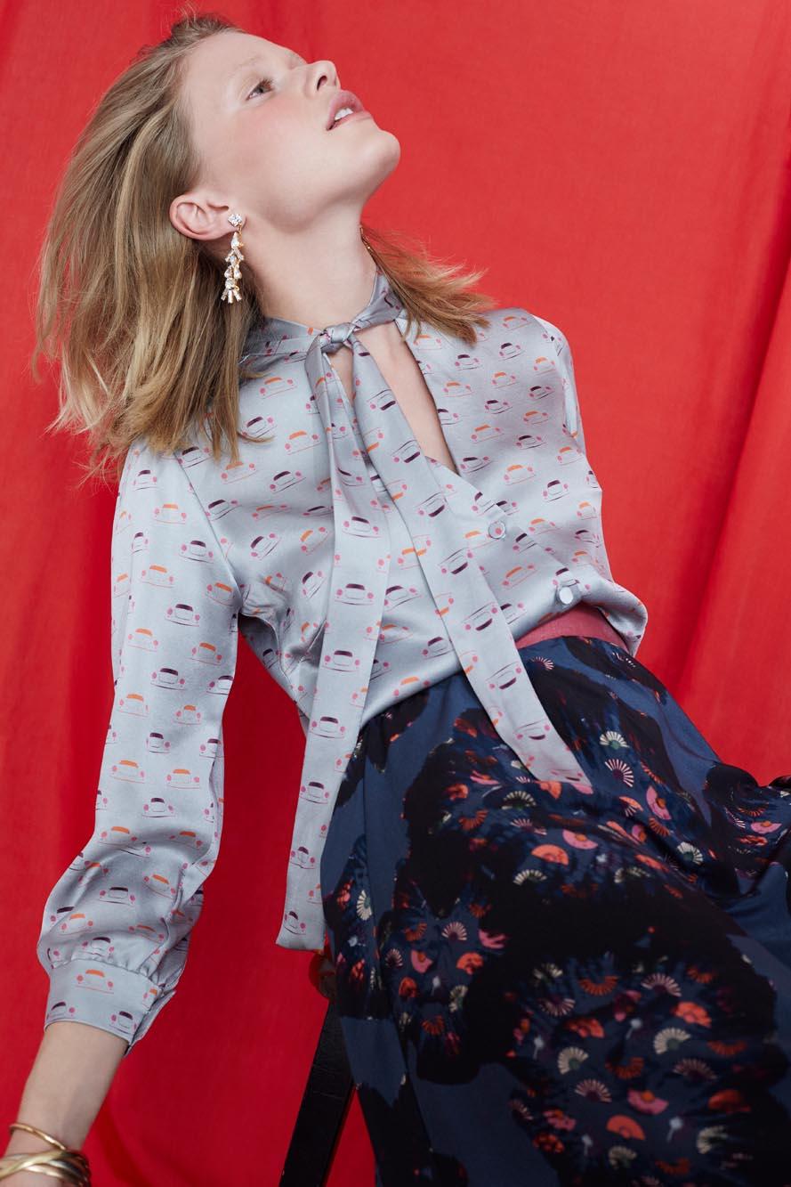Ellie Lines Fashion Designer Ellie Lines Deia Targa Collection Maddie Silk Blouse
