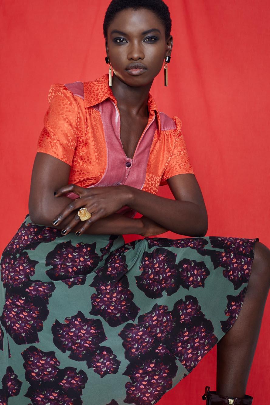 Fashion Designer Ellie Lines Deia Targa Collection - Tess Silk Dress in Shine