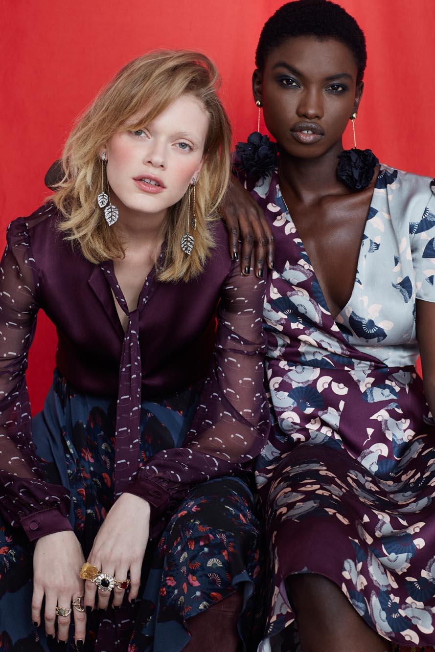 Fashion Designer Ellie Lines Deia Targa Collection Tina and Liz Silk Dresses