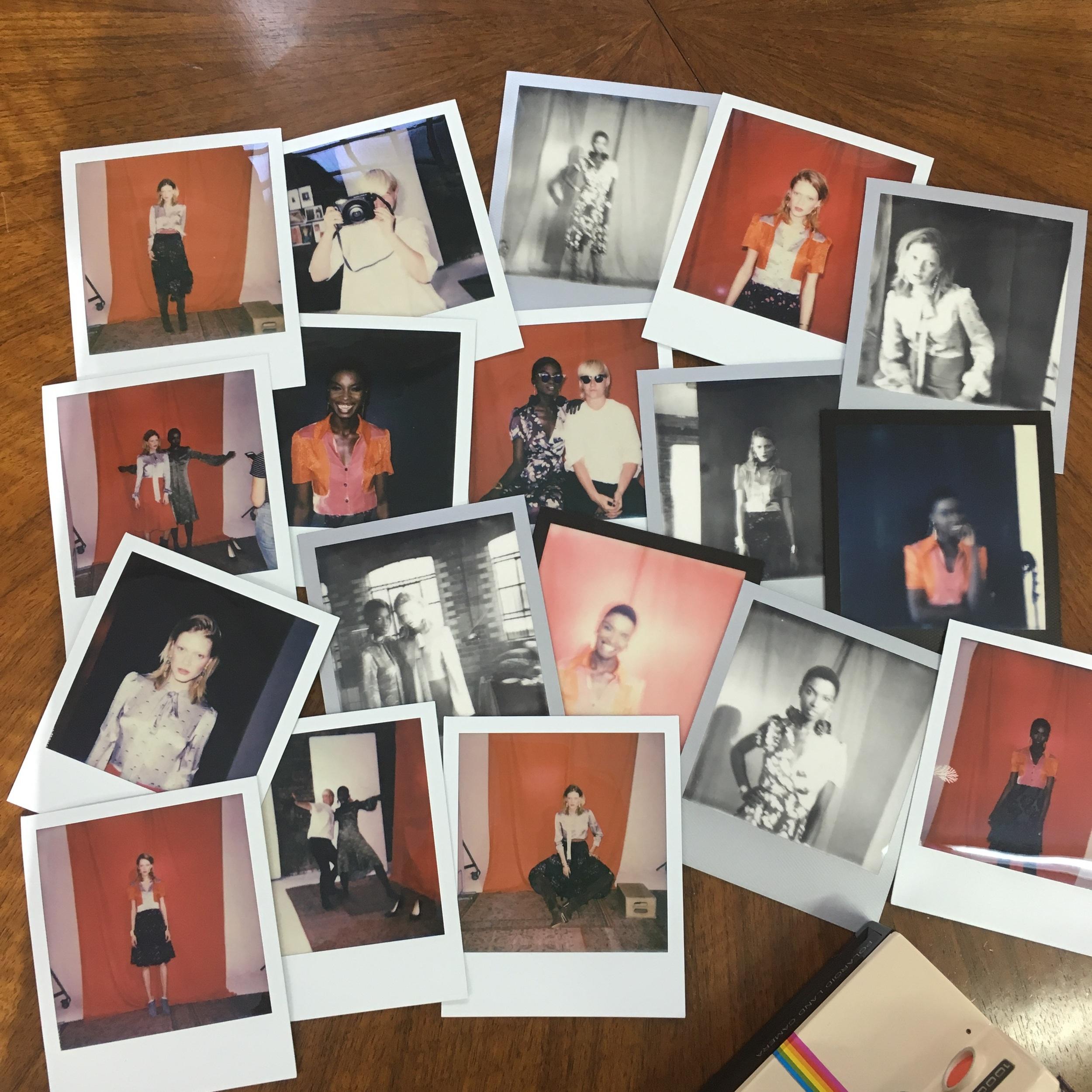 Polaroid Photo Montage of Ellie Lines Designs