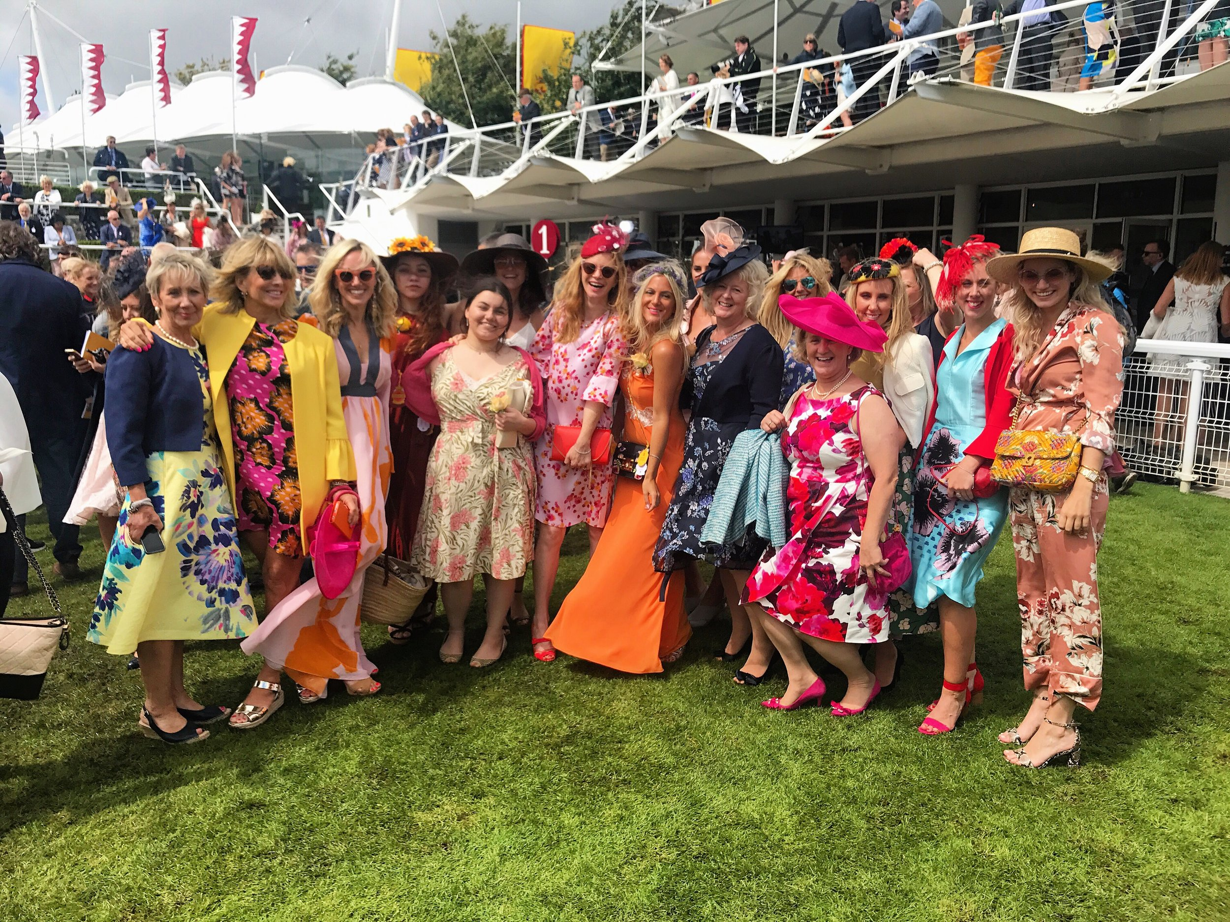 London Stylist Ellie Lines at Ladies Day, Goodwood Races