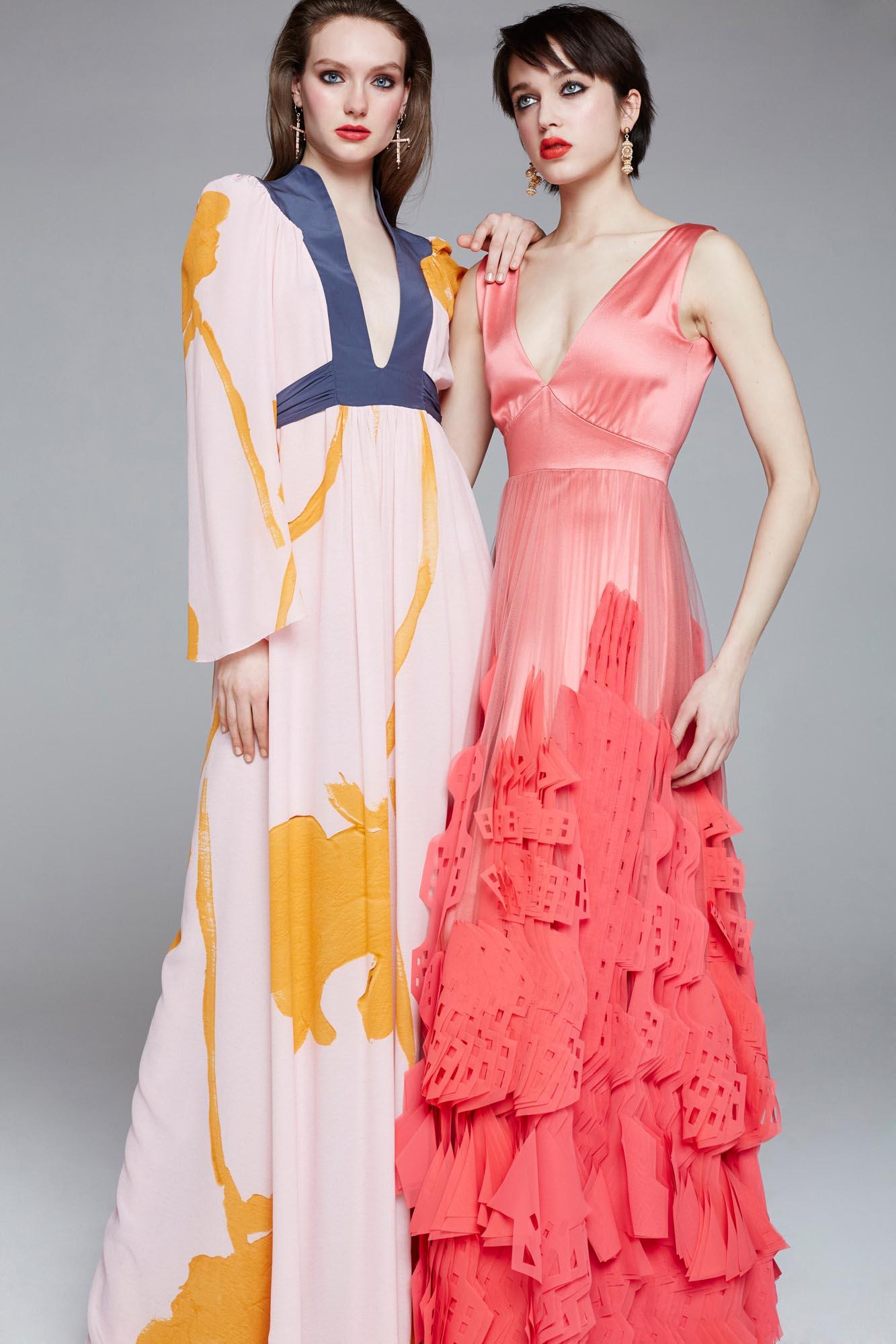 Evening dresses silk
