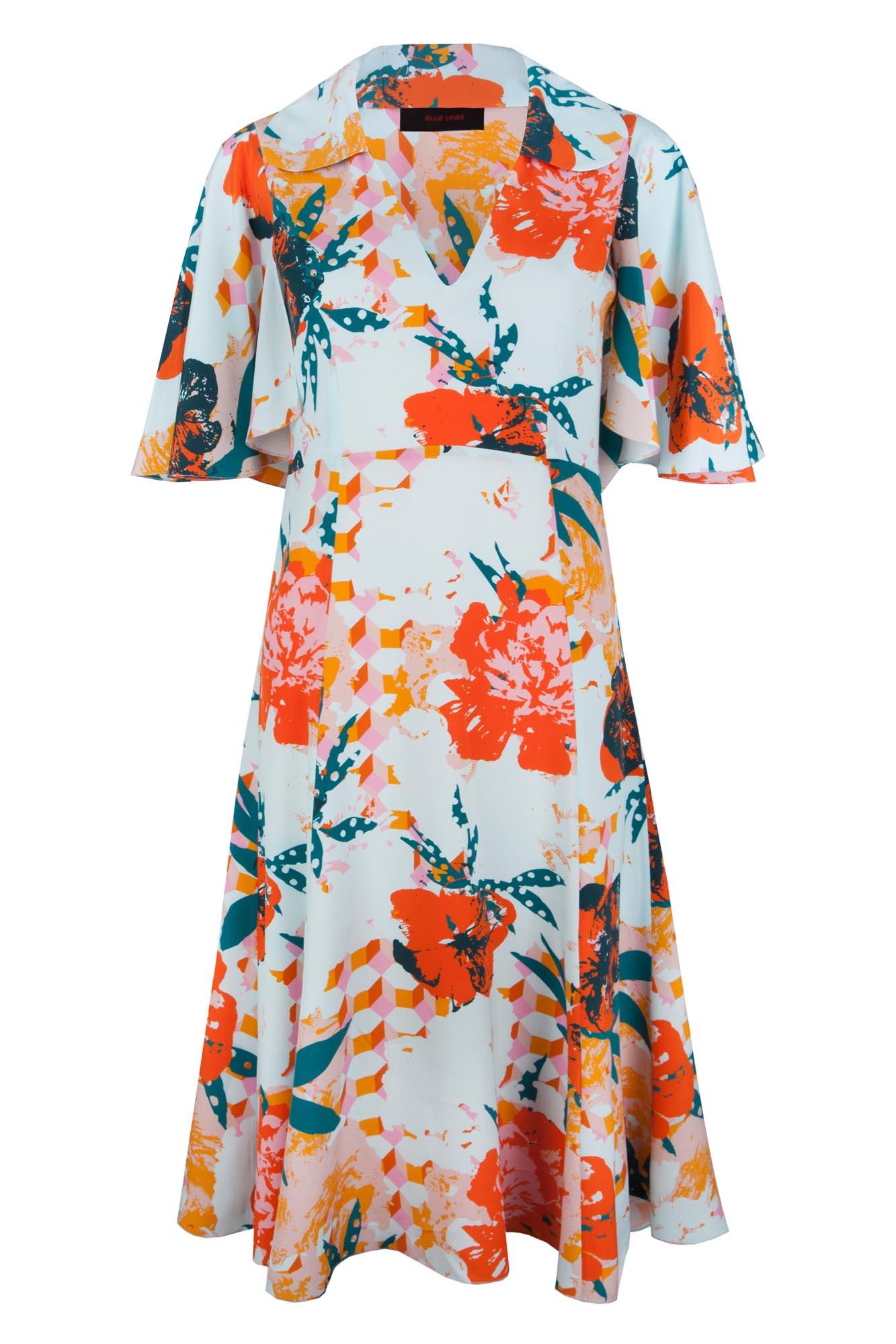 Designer flower print dress uk
