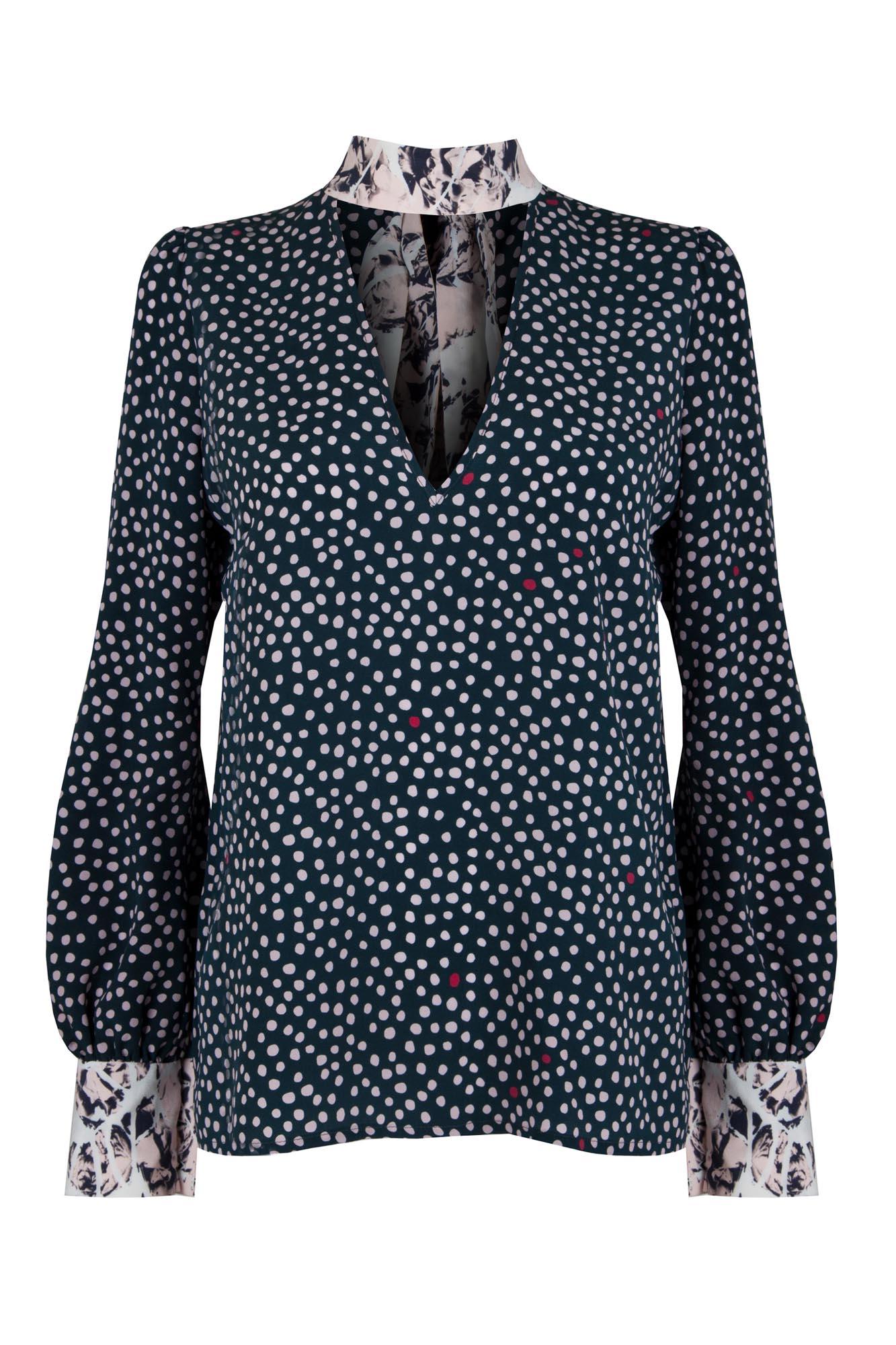 Tori Polka Play blouse