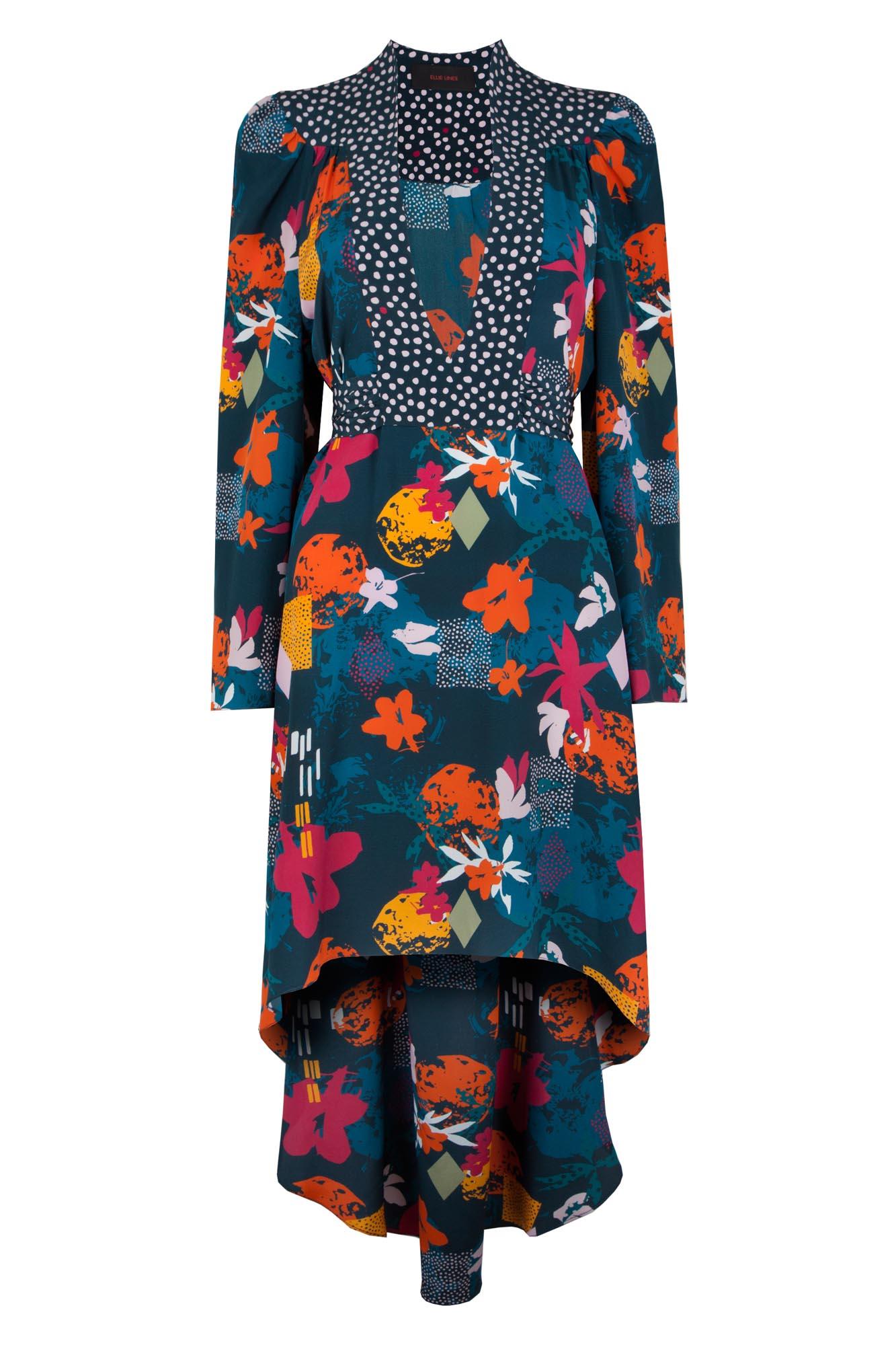 Steph Fruit Play silk dress uk