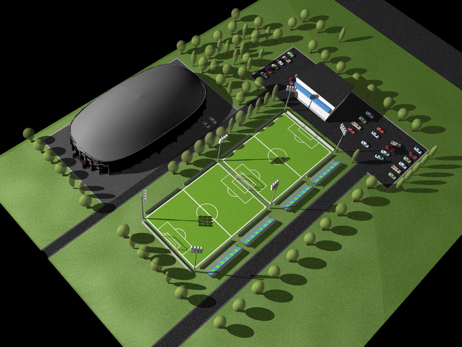 Kompleks piłkarski w Warszawie
