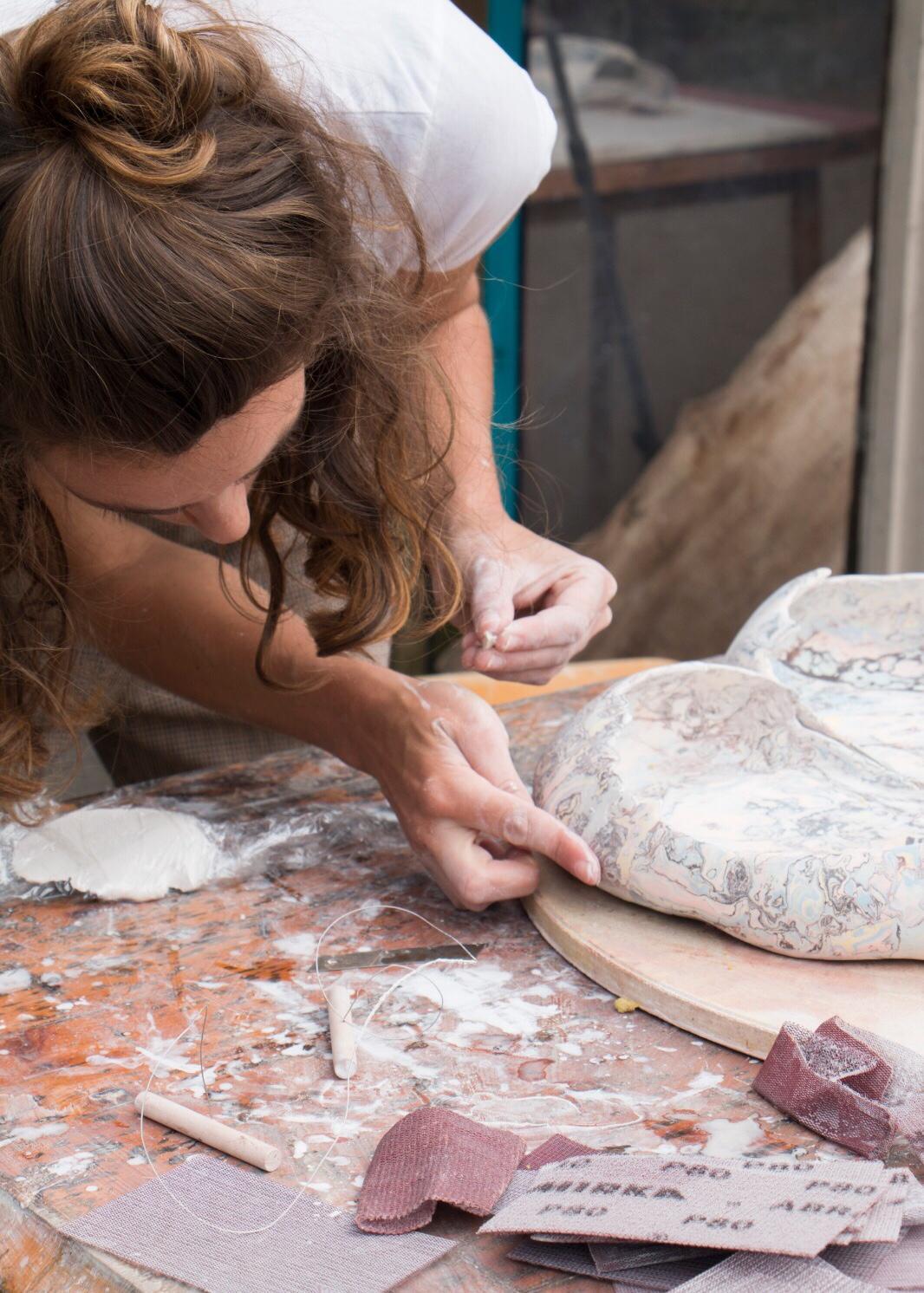 Portrait of Bea Bonafini working © Rochester Square.JPG