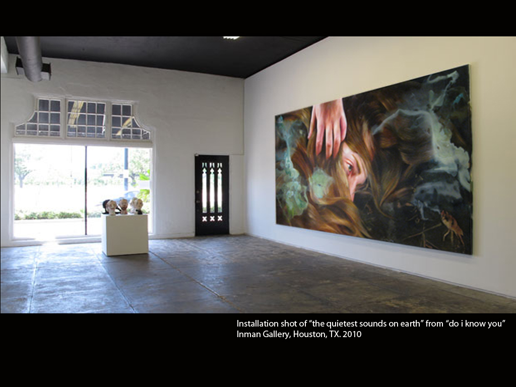 the quietest sounds on earth.  from  do i know you.  Inman Gallery, Houston, TX. 2010